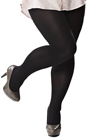 b7cdbd67655 80 denier Opaque Tights - plus size 28-32 (extra long/tall)