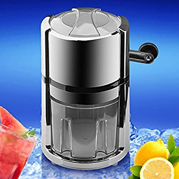 Portable Manual Ice Crusher Household Ice Shaver Snow Cone Maker Fast Crushing Ice Shaver Easy to Use Ice Crusher Hand Crank