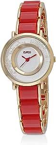 ساعة يد نسائية من زايروس ، انالوج بعقارب ، سوار معدني ، احمر ، 15Y152L010111R