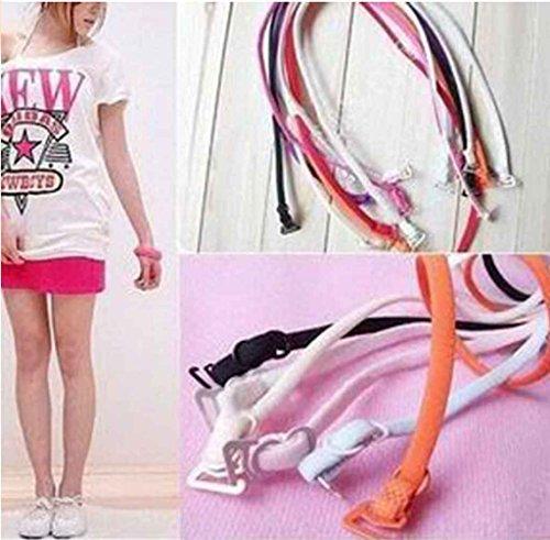 12pc 6 pair Mix Color Thin Candy Color Halter Bra Shoulder Neck Straps Women Girl Sleeveless Skirt Full Dress