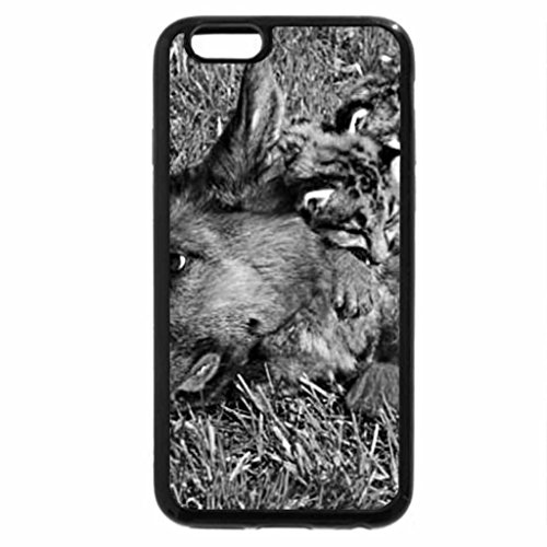 iPhone 6S Plus Case, iPhone 6 Plus Case (Black & White) - dog with cubs
