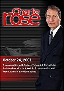 Charlie Rose with Shibley Telhami & Akiva Eldar; Jack Welch; Fred Kaufman & Xoliswa Vanda (October 24, 2001)