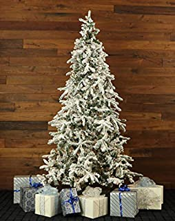 Fraser Hill Farm Christmas Tree 9 Ft. Flocked Mountain Pine with Smart String Lighting, 9.0, Green/White (B01HDWI89C) | Amazon price tracker / tracking, Amazon price history charts, Amazon price watches, Amazon price drop alerts