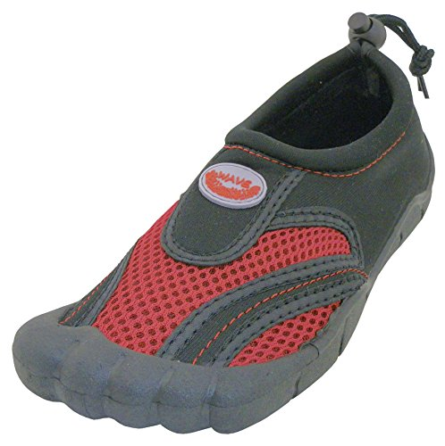 Cambridge Select Dames Instapmodel Mesh Sneldrogende Toe Waterschoen Zwart / Rood