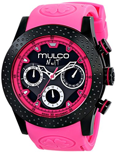 MULCO Unisex MW5-1962-058 Analog Display Swiss Quartz Pink Watch ()