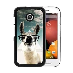 RCGrafix Brand Hipster Baby Panda Geek Glass Motorola Moto E Cell Phone Protective Cover Case - Fits Motorola Moto E