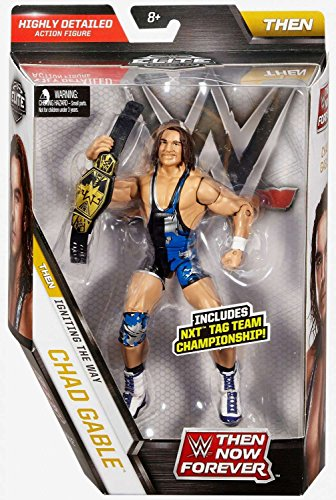 WWE Elite Collection Then Now Forever Chad Gable Action Figure (with NXT Tag Team Championship Belt) by WWE