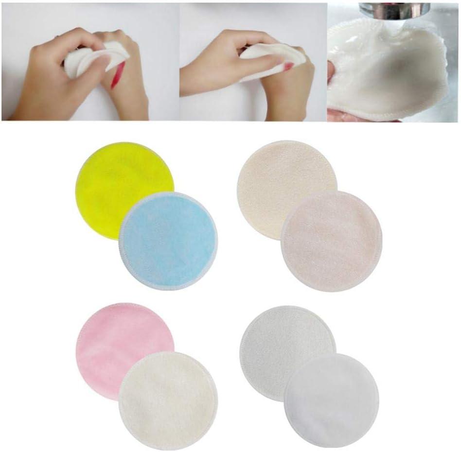 SmallPocket Waschbare Abschminkpads Wattepads Wiederverwendbar Wiederverwendbare Wattepads Zuf/ällige Farbe 10PCS 8CM Double-Layer Fiber Velvet Gesicht Waschen 8cm