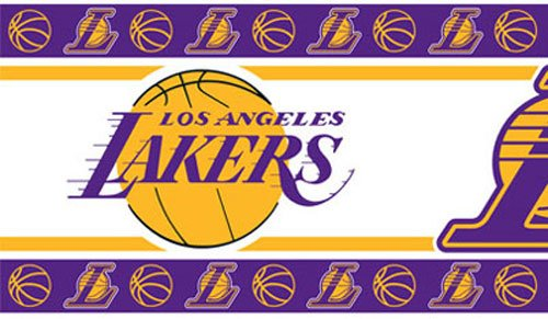 Four NBA Los Angeles Lakers Self Stick Wall Border