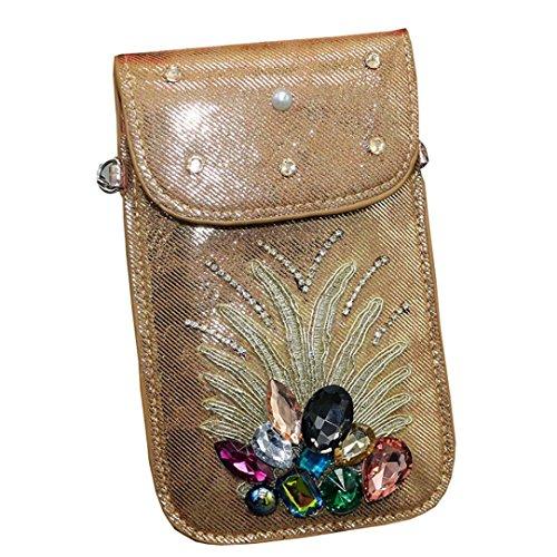 Mysky Women Bags,Women's Applique Shoulder Bag Mobile Phone Clutch Purse Bag (Applique Clutch)