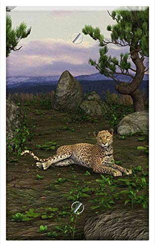 Single-Gang Blank Wall Plate Cover - Cheetah Big Cat Concerns Cat Predator Wildcat