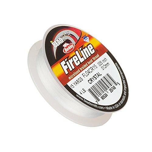 Fireline Braided Bead Thread Crystal 4LB 15yrds 0.005