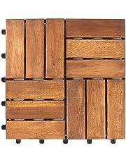 Vanage - Caillebotis en Bois - Emboîtables et Ultra Simples à Installer – Parfait pour Terrasses et Balcon – en Bois d'acacia