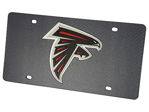 CarBeyondStore Arizona Cardinals Inlaid Acrylic License Plate with Carbon Fiber Design