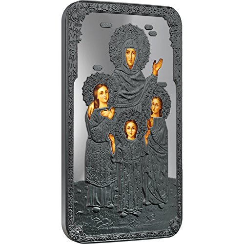 - 2014 Niué Proof - Orthodox Shrines - Faith, Hope, Love and their Mother Sofia - 1oz - Oxidised Silver Coin - $2 Uncirculated