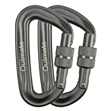Outmate Carabiner Clip,12kN Aluminium Alloy Screwgate Carabiners,Heavy Duty Clips 2645lbs/1200kg,Perfect Gear for Hammocks