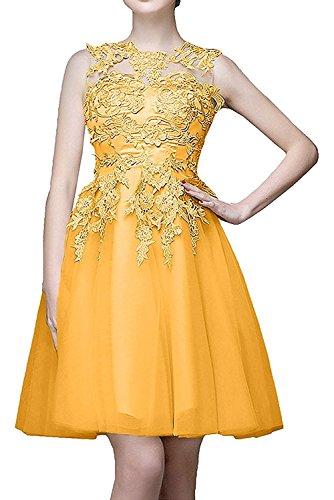 Orange Kurzes Kurz Brautjungfernkleider Damen Orange Braut Cocktailkleider La Spitze Marie Abendkleider 6vg7q7