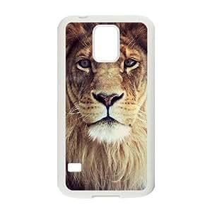 Lion ZLB553343 Unique Design Case for SamSung Galaxy S5 I9600, SamSung Galaxy S5 I9600 Case by mcsharks
