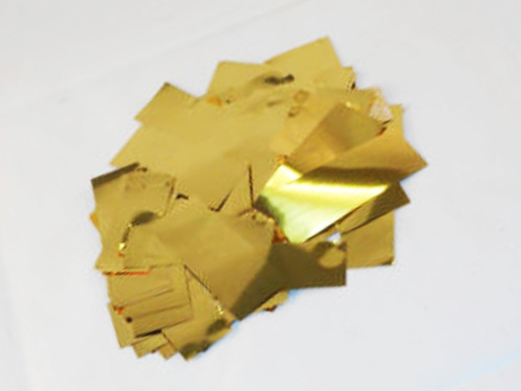 """Custom & Fancy {2.5'' x .75'' Inch} 1 Lb of Large Rectangle """"Throwing"""" Party Confetti Made of Premium Metallic Foil w/ Elegant Sparking Treasure Design [Gold]"""