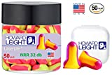 Howard Leight Ll1 Laser Lite Foam Earplugs No Cords, 50 Count in a jar