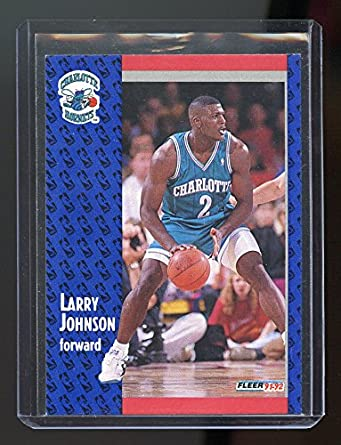 1991 92 Fleer 255 Larry Johnson Charlotte Hornets Rookie Card Mint Condition Ships In New Holder