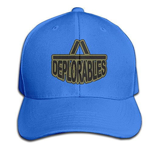 GD54 Proud Member Of The Basket Of Deplorables Adjustable Hunting Peak Hat & Cap RoyalBlue