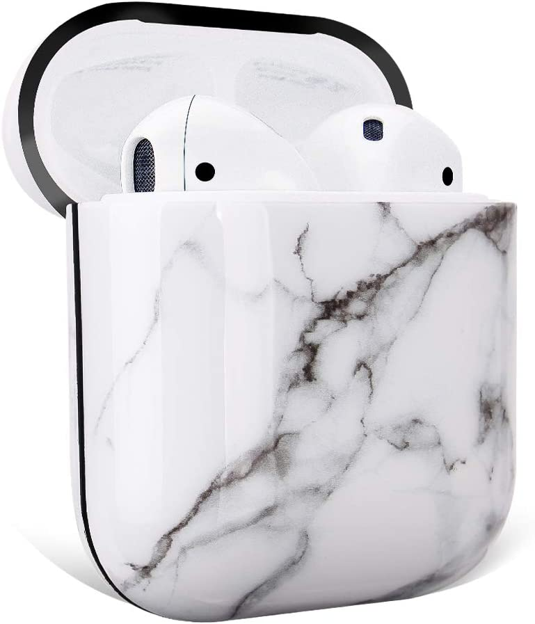 GOLINK Case for Airpods,Marble Series Protective Shockproof TPU Gel Case with Printing for Airpods 1st//2nd Charging Case Blue Marble