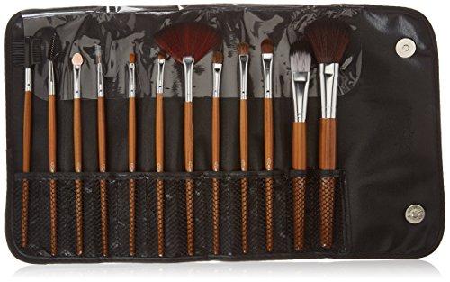 Glow 12 piece Makeup Brush Set in Brown Leopard Print Case (Glow 12 Piece)