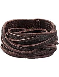 Jewelry Unisex Wrap Bracelet Braided Soft Genuine Leather Men Bracelet