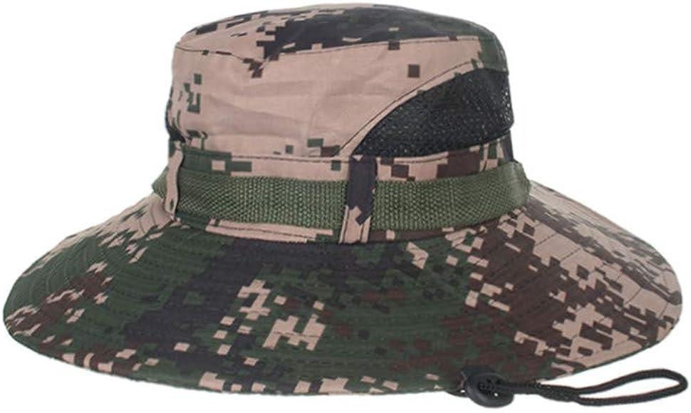 bbfa48d72905aa Amazon.com: HYSGM Summer Camouflage Boonie Hat Wide Brim Outdoor Sun ...