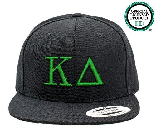 KAPPA DELTA | Black Flat Brim Snapback Hat - Various Thread Options