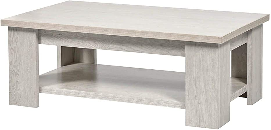 Altobuy Galaad Table Basse Rectangulaire Effet Chêne