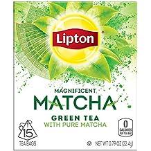 Lipton Magnificent Matcha Green Tea Bags, Pure Matcha 15 ct