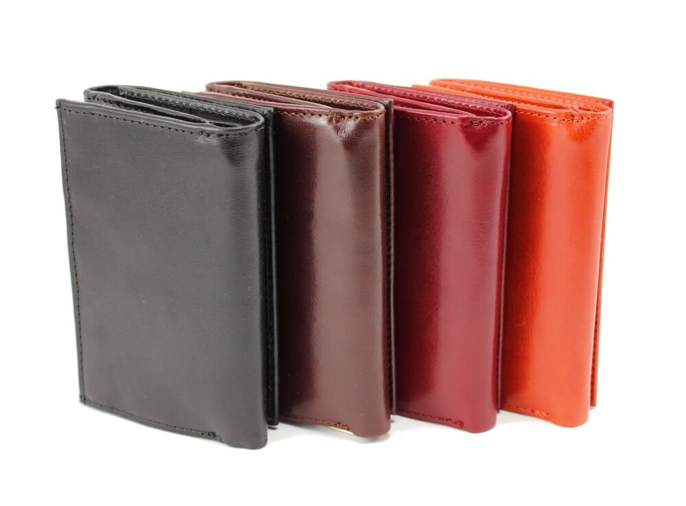 Zenyetti Handcrafted Premium Italian Leather Womens Wallet w/ Plastic Zipper Around Pocket (Brown)