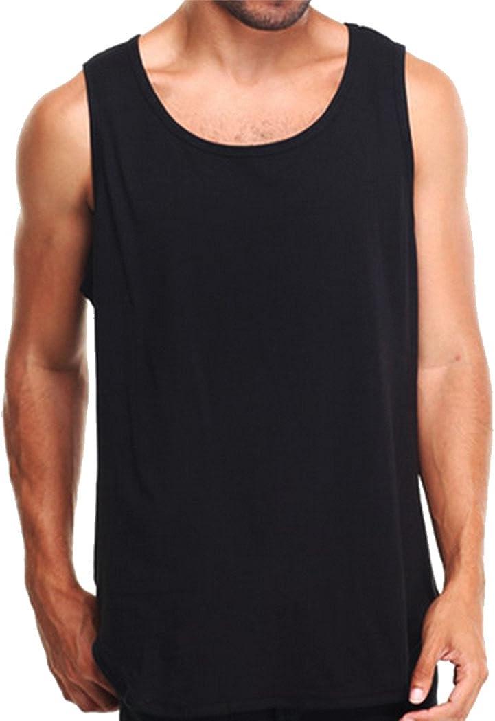 Amazon.com: PRO 5 Men's Tank Top Plain Black 2 Pack: Clothing