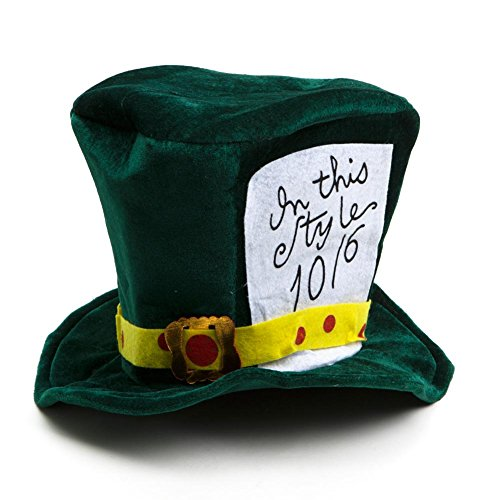 Century Novelty Mad Hatter Hat Green -