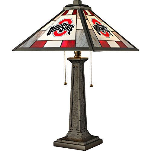 Imperial Officially Licensed NCAA Merchandise: Tiffany-Style Stained Glass Desk Lamp, Ohio State - State Desk Ohio Lamp