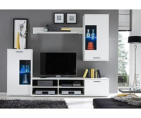 AVANTI TRENDSTORE - Kalli - Parete da soggiorno in laminato bianco ...