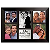 Lighthouse Christian Products Black with Brushed Silver Plate 35th Anniversary Frame, 10 1/2 x 14 1/4''