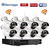 Techage 8CH Home Surveillance System Wireless NVR Kit 960P Video Recorder + 1.3MP Wifi IP Camera 3PCS Leds CCTV System Kit Without Hard Drive