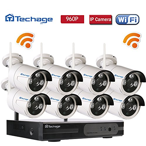 Techage 8CH Home Surveillance System Wireless NVR Kit 960P Video Recorder + 1.3MP WiFi IP Camera 3PCS LEDs CCTV System Kit Without Hard Drive For Sale