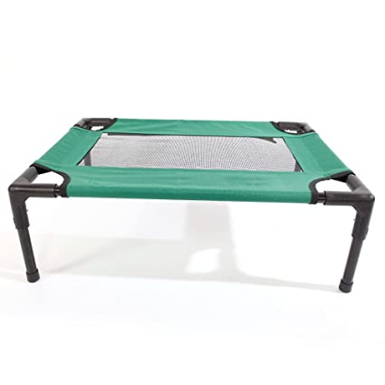 Detachable Assembly Style Breathable Pet Steel Frame Camp Bed M Green Security & Protection