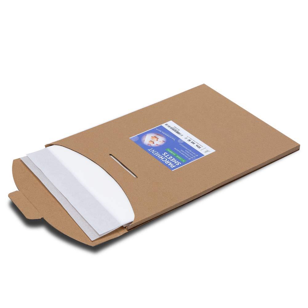 Parchment Paper Sheets- 9x13 Inch Parchment Baking Paper Fit for Quarter Sheet Baking Pan by katbite