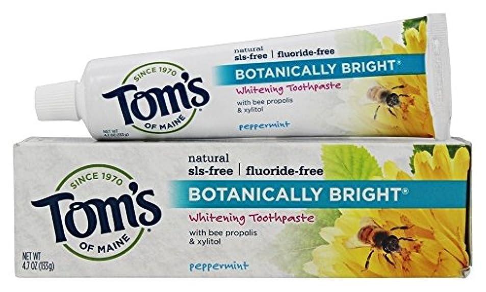 インペリアルマーキートロイの木馬Botanically Bright Whitening Toothpaste Peppermint - 4.7 oz - Case of 6 by Tom's of Maine