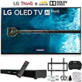 LG OLED65E9 65' E9 4K HDR OLED Glass Smart TV with AI ThinQ (2019 Model) Deco Gear Soundbar Bundle Includes Home Theater Surround Sound 31' Soundbar, TV Flat Wall Mount Kit and More