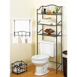 Generic h Set Ba Space Saver Meta Storage Rack Organizer Storage Complete Bath m 3 pcs Bronz Set Bathroom th Set Bath 3 pcs Bronze Metal ath Set Ba
