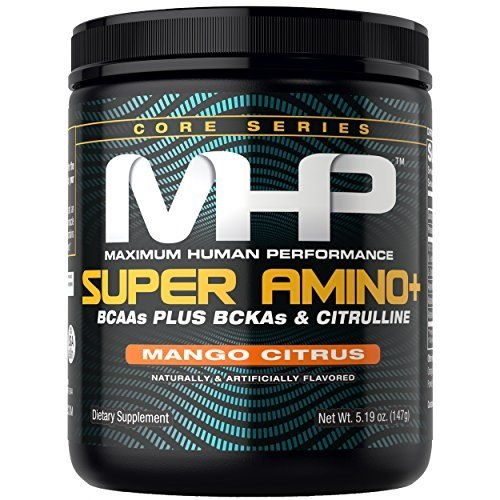 MHP Super Amino + Powder, BCAAs Plus BCKAs & Citruline, Mango Citrus, 30 Servings