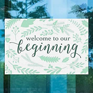 CGSignLab 30x20 Our Beginning Perforated Window Decal