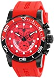 "Swiss Legend Men's 21368-BB-05-RDAS ""Avalanche"" Stainless Steel Watch with Red Silicone Band"