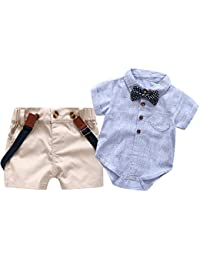 Baby Boys Short Sleeve Gentleman Outfits Suits, Infant...